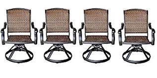 garden cast aluminum patio swivel rocker dining patio outdoor santa clara swivel rocker dining chairs set of  solid ca