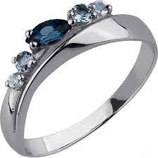 Серебряное <b>кольцо Aquamarine 6568266-S-a</b> с топазами ...