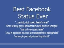 Group of: Funny facebook status   We Heart It