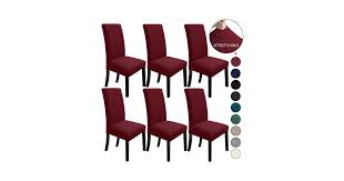 (6, <b>Wine Red</b>) - NORTHERN BROTHERS <b>Dining Chair</b> Covers ...