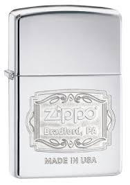 <b>Зажигалка ZIPPO Classic</b> с <b>покрытием</b> High Polish Chrome ...
