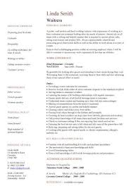 free catering cv template samples  catering jobs  event catering    waitress cv