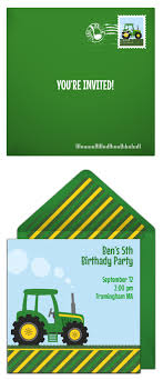 farm tractor invitations we paper and birthdays tractor invitation we love this online invitation design for a tractor birthday a