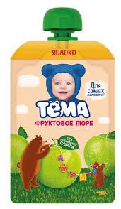 Купить <b>Фруктовое пюре ТЕМА</b> Яблоко, 90 г в торговых центрах ...