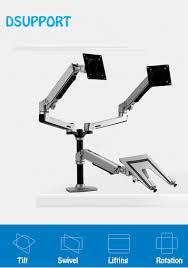 CBEC7CEAA9 <b>Desktop Full Motion</b> 17-32inch Dual Monitor Holder ...