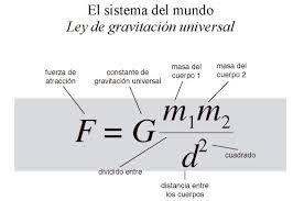 Resultado de imagen de La Ley de gravitación de Newton