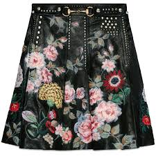 Gucci Hand-Painted <b>Leather Skirt</b> ($9,800) liked on Polyvore ...