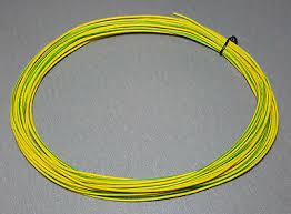 10 Metres <b>YELLOW</b>/<b>GREEN</b> stripe <b>UL</b>-<b>1007</b> Hookup Wire <b>22AWG</b> ...