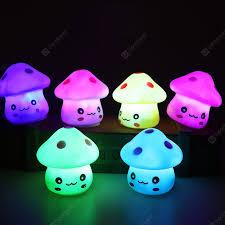 LED Colorful Mushroom Night Light Childrens Room Decoration ...