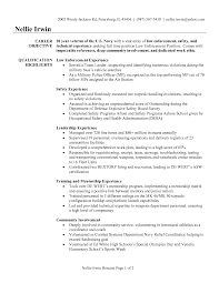 Entry Level Law Enforcement Resume Free Resume Example And