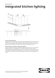 Integrated Kitchen Lighting buying guide Open PDF