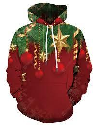 Christmas Men's Snowflake 3D Print Hoodie with Long Sleeve Sale ...