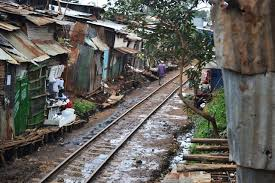 contemporary urbanisation processes geography urbanisation kibera slum railway tracks nairobi 2012