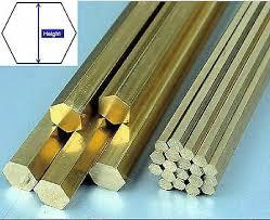 <b>1pcs</b> Brass Hexagon Bar Rod Height 6 8 10 12 15 20 25 30 <b>32 40</b> ...