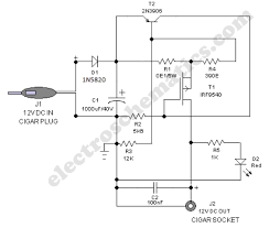 safe 12v car adapter circuit 12 volts car adapter diagram