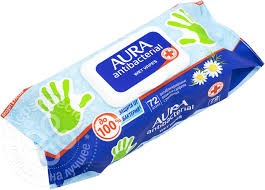 <b>Салфетки</b> влажные Aura антибактериальные 72шт - купить на ...
