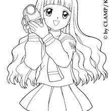 Small Picture Tomoyo daidouji with a camera coloring pages Hellokidscom