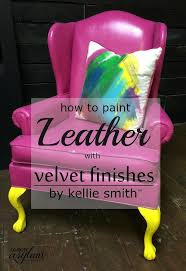 diy painting leather with velvet finishes more can you paint leather furniture