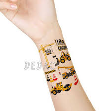 <b>Kids</b> Temporary Tatoo Fake Tattoo <b>Sticker Cartoon</b> Car <b>Excavator</b> ...