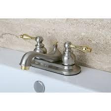 satin nickel bathroom faucets: restoration classic satin nickel and polished brass bathroom faucet