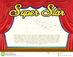 certification template for super star stock vector image  certification template for super star