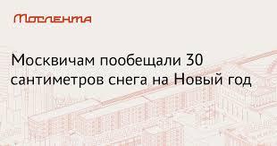Москвичам пообещали 30 сантиметров снега на <b>Новый год</b> ...