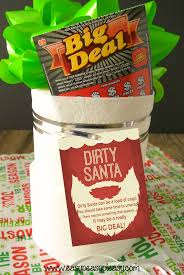dirty santa lottery tickets the perfect gift easy peasy pleasy dirty santa gift idea printable gift tags incorporating arkansas scholarship scratch off lottery tickets