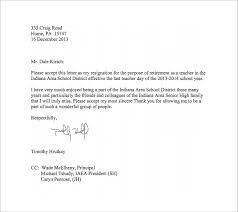 teacher resignation letter templates – free sample  example    free teacher resignation letter to principal pdf format download