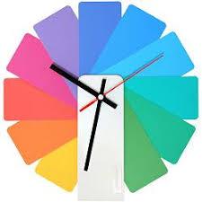 <b>Часы настенные Transformer</b> Clock. White & Multicolor купить ...