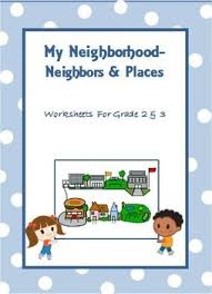 grade   worksheets and  kids on pinterestmy neighborhood   worksheets for grade   amp