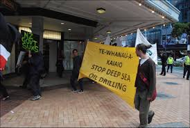 photo essay apanui iwi protest deep sea oil drilling in nz click for big version