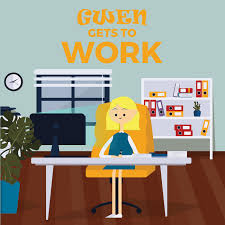Gwen Gets to Work