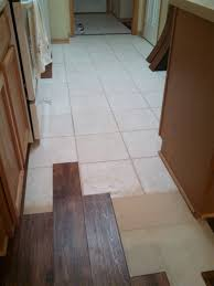 kitchen floor laminate tiles images picture: image the wood laminate was laid over tile in the kitchen