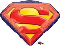 Шар фольгированный Супермен Эмблема 66*50см