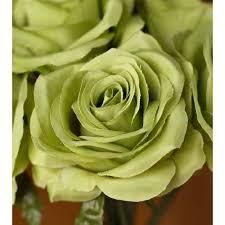 Google Express - Jade Green <b>Artificial</b> Open <b>Rose Bouquet</b>, 14 1/2 ...