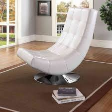 Shop Modern White <b>PU Leather</b> Accent Chair - <b>Free Shipping</b> Today ...