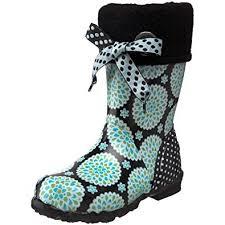 Bogs Junior Miss <b>Becca Dahlia</b> Blue Wellingtons Boot Bo5226327 ...