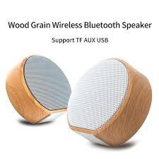 <b>Wood Grain</b> Wireless Bluetooth Speaker <b>Portable Mini</b> Loudspeaker ...