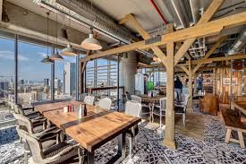googles new tel aviv headquarters is the wonderful variety of interior layouts and colorful landscapes the architects lean on consistent conventions google tel aviv cafeteria