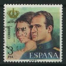 E2304 - D. Juan Carlos y Dña Sofia. Reyes de España - sello_207462
