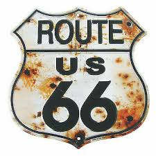 Rusty Highway Route 66 <b>Tin Sign US</b> Made Rustic <b>Vintage</b> Garage ...