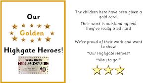 highgate infant school highgate heroes gold