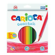 Купить <b>Карандаши цветные CARIOCA</b>, 24 цвета, шестигранные ...