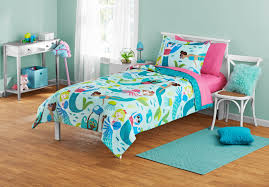 Your Zone Blue & <b>Pink Mermaid</b> Bed-in-a-Bag Kids Bedding Set ...