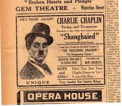 when the junction flickered chaplin s short film shanghaied at the gem theatre in new brunswick asked boys and girls have you sent your chaplin essays in yet if not get busy
