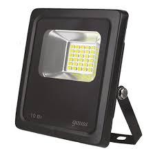 <b>Прожектор Gauss LED 10W</b> COB IP65 6500К — купить в интернет ...