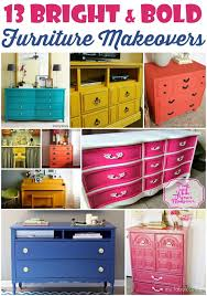 13 bright and bold furniture makeovers bright painted furniture