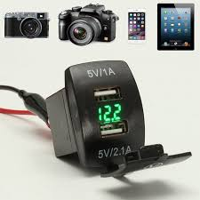<b>12V</b> 3.1A Motorcycle <b>Car Boat Truck</b> Dual USB Power Charger ...