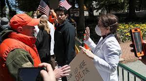 Nurses to anti-lockdown activists: My life's on the line. Go home ...