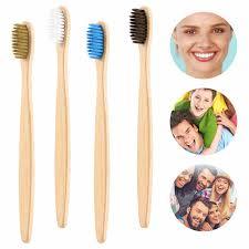 1 Pc Adult Natural Pure <b>Bamboo</b> Toothbrush <b>Bamboo</b> Handle ...